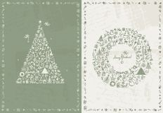 Christmas card retro for your design Stock Photos
