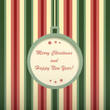 Christmas card with round frame. Stock Photography