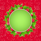 Christmas Card with Round Place for Text Royalty Free Stock Photo