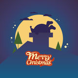 Christmas card with Santa. Royalty Free Stock Images