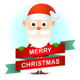 Christmas card with Santa Royalty Free Stock Images