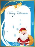 Christmas card with santa Stock Photo