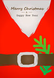 Christmas card with Santa belt Stock Image