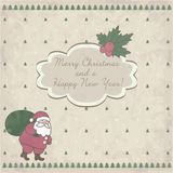 Christmas card with Santa Claus Royalty Free Stock Photos