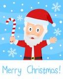 Christmas Card with Santa Claus Royalty Free Stock Image