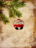 Christmas card with Santa Claus Stock Photography