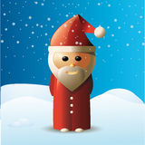 Christmas card with Santa Claus Stock Image