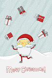 Christmas card with Santa Claus Royalty Free Stock Photography