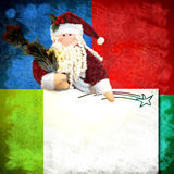 Christmas card Santa Claus and blank space for writing Royalty Free Stock Photo