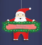 Christmas card. Santa Claus with a congratulation Royalty Free Stock Image