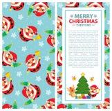 Christmas card Santa Claus Royalty Free Stock Image