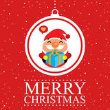 Christmas card Santa Claus Royalty Free Stock Image