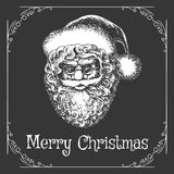 Christmas Card with Santa Claus Face Stock Photography