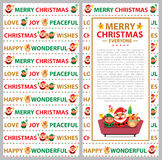 Christmas card Santa Claus and Friends Stock Photos