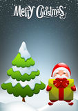 Christmas card. Santa Claus with gifts Royalty Free Stock Images