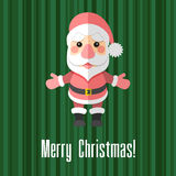 Christmas card with Santa Claus Royalty Free Stock Image