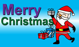 Christmas card with Santa Claus. Greeting card, Christmas card with Santa Claus Royalty Free Stock Photos