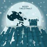 Christmas card with Santa Claus Royalty Free Stock Photo