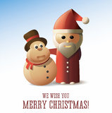 Christmas card with Santa Claus and Merry Christma Stock Photography