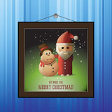 Christmas card with Santa Claus and Merry Christma Royalty Free Stock Image