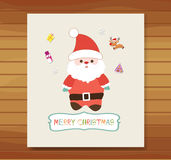 Christmas card with santa claus. Merry christmas element design for background or card Stock Images