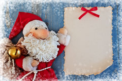 Christmas card with Santa Claus. Royalty Free Stock Images