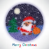 Christmas card with Santa Claus style blurred round Royalty Free Stock Photography