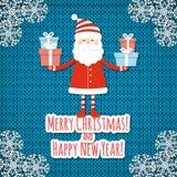 Christmas card with Santa Stock Photography