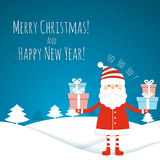 Christmas card with Santa Royalty Free Stock Image