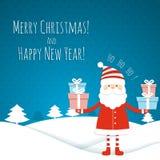 Christmas card with Santa Royalty Free Stock Image