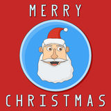 Christmas card with Santa Claus. Vector illustration Stock Image