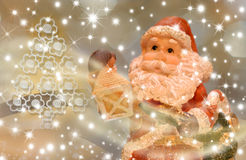 Christmas card, Santa Eve Royalty Free Stock Image