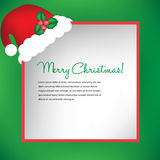 Christmas card with santa hat Stock Images
