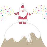 Christmas card with Santa. Vector illustration Royalty Free Stock Photo