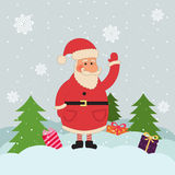 Christmas card with Santa Royalty Free Stock Photo
