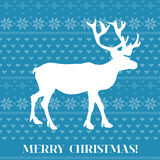 Christmas Card - Scandinavian Knit Style Stock Photography