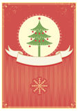 Christmas card and scroll Stock Images