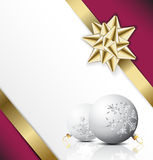 Christmas card with seasonal decorations Royalty Free Stock Image