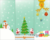 Christmas card. Send greeting cards with Christmas Royalty Free Stock Image