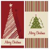 Christmas card set Stock Images