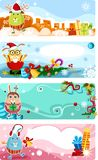 Christmas card set Stock Photos