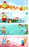 Christmas card set stock illustration