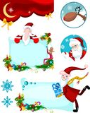 Christmas card set Royalty Free Stock Images