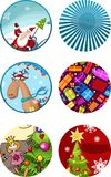 Christmas card set Royalty Free Stock Image