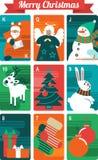 Christmas Card Set Stock Photos