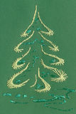 A Christmas card showing a Christmas tree Stock Photo
