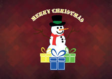 Christmas card. Simple christmas card or background for you Royalty Free Stock Photos