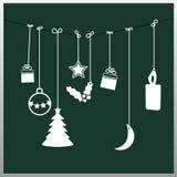 Christmas card. Simple vector green christmas card Royalty Free Stock Photography