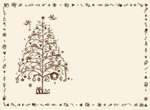 Christmas card, sketch drawing for your design Stock Photography