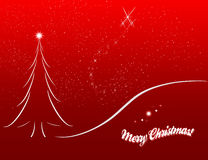 Christmas card sketch on red background royalty free stock image
